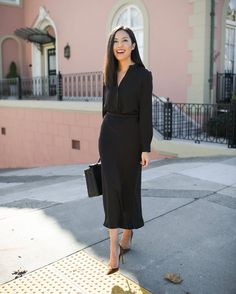 Sometimes all black is the best go-to outfit Business Attire, Business Fashion, Office Fashion, Work Fashion, Best Black, All Black, Funeral Outfit, Interview Style, Work Chic