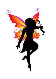 Fairy tattoo design by Fairy Silhouette Tattoos Silhouette Tattoos, Fairy Silhouette, Small Fairy Tattoos, Fairy Wing Tattoos, Pixie Tattoo, Fairy Tattoo Designs, Tribal Tattoo Designs, Elfen Tattoo, Black Fairy