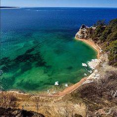 Poctured Rocks, in Upper Peninsula, Lake Superior from Pure Michigan Instagram