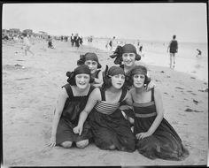 Bathing girls at Revere Beach, 1920s