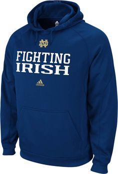 low priced 99eed 352b9 adidas Notre Dame Navy Practice Stitch Pindot Pullover Hood
