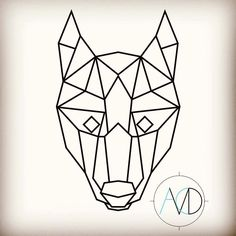 Wolf head from earlier but symmetrical #symmetry #symmetricalmonsters #geometric #geometry #wolf #head #animal #animation #illustration #illustrator #art #drawing #draw #photoshop #design #designer #tattoo by ac_visual_design
