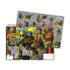 A4 Teenage Mutant Ninja Turtle Sketch Book With Stickers  £1.99