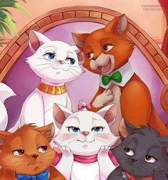 Vermeilbird - Disney The Aristocats Marie Aristocats, Disney Pixar Movies, Disney Songs, Disney Characters, Disney Tattoos, Disney Fan Art, Disney Love, Toulouse, Disney Actual