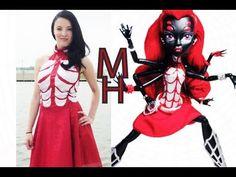 ▶ Monster High Webarella Costume Tutorial - YouTube