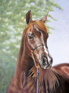 Pintura Moderna al Óleo: Pinturas realistas de caballos