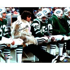 Joe Namath Jets Sideline with Fur Coat Horizontal 16x20 Photo (JSA)