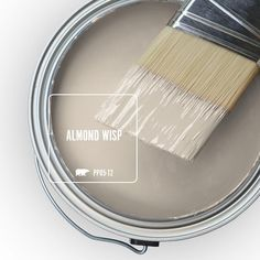 Almond Wisp (Behr paint color) swatch. Discover inspiring understated neutrals to try in your own home. #paintcolors #beigepaint #behralmondwisp