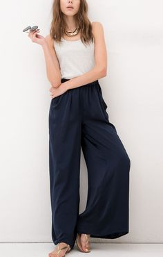 Black High Waist Loose Trousers