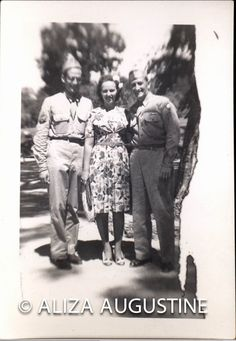 Vintage // Black & White // Photo // 2 Soldiers With Woman      1426 by foundphotogallery on Etsy
