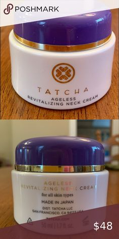 NWOB Tatcha Ageless Revitalizing Neck Cream New without Box - Never opened it used Tatcha Ageless Revitalizing Neck Cream  An antioxidant rich cream developed to specifically hydrate, smooth, and nourish the delicate skin on the neck and décolletage for a visibly renewed look.  1.7 oz Tatcha Makeup Ageless Cream, Neck Cream, Delicate, Smooth, Shop My, Box, Makeup, Closet, Make Up