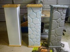 Building Fence Columns for Halloween. by Bliss Massacre, via | http://doityourselfcollections.blogspot.com