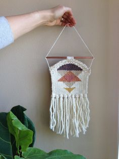 Hand Woven Wall Hanging Decor // Small by MelissaJenkinsDsgns