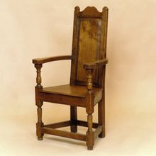 Colonial Dining Chair in solid oak, designed and made by Stuart Interiors Oak Chairs, Dining Chairs, Solid Oak, All Design, Colonial, Interiors, Furniture, Home Decor, Decoration Home