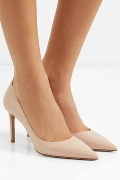 a4bff96bbb26 Prada glossed textured-leather pumps.  prada  nudeshoes  pumps  heels