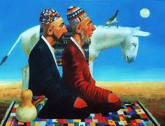 С фольклорным юмором художник Бахтияр Умаров   IRIS - отДУШИ -НА  
