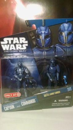 Star Wars Clone Wars Senate Commando Captain & Senate Commando Target Exclusive #Hasbro