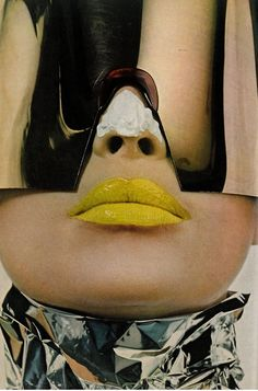 Irving Penn. Yellow lips.