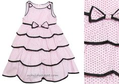 Biscotti *Tres Jolie* Sleeveless Pink Polka Dot Layered Dress