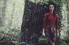 alberta ferretti fall 2014 campaign 3 Mariacarla Boscono Enters the Enchanted Forest for Alberta Ferrettis Fall 2014 Campaign