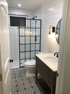 Slatted Shelves, Bathroom Renos, Master Bathrooms, Small Master Bathroom Ideas, Remodel Bathroom, Basement Bathroom Ideas, Inexpensive Bathroom Remodel, Small Bathroom With Shower, Condo Bathroom