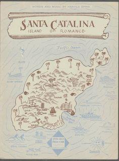 "1946 sheet music for the song ""Santa Catalina, Island of Romance"