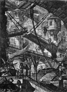 """One of Giovanni Battista Piranesi's """"Carceri"""" (Prisons) series. #architecture #prints"""