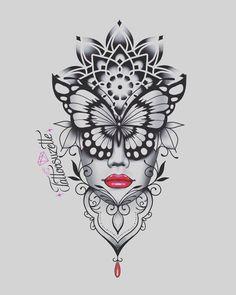 Geometric Mandala Tattoo, Mandala Tattoo Design, Tattoo Design Drawings, Tattoo Designs, Cute Tattoos, Body Art Tattoos, Flower Cover Up Tattoos, Tattoo Femeninos, Mujeres Tattoo