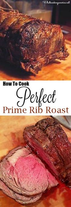 How To Cook Perfect Prime Rib Roast - Purchasing, Prepping, Cooking Temp Charts, Carving & Side Dishes! | whatscookingamerica.net | #perfect #primerib #standing #ribroast #beef #thanksgiving #christmas #easter