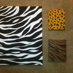 Canvas's I painted for my African safari themed living room!