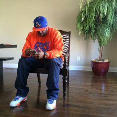 DJ Funk Flex wearing Air Jordan IX 9 Retro Fontay Montana