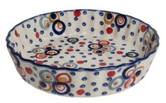 The Small Quiche Dish (Bubble Machine) High-Quality Polish Stoneware from the largest supplier in the western United States - The Polish Pottery Outlet in Englewood, CO