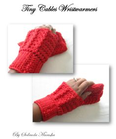 Free Pattern - Crochet Fingerless Gloves Tiny Cables