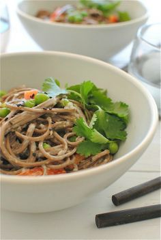Soba for Lunch: 5 Filling Noodle Salads  It shouldn't be too hard to convert one of these salads into the one they now have at Panera Bread!