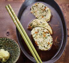 Chakin tofu in ginger broth recipe : SBS Food Japanese Tofu Recipes, Asian Recipes, Japanese Menu, Healthy Soup, Healthy Recipes, Healthy Weight, Soup Recipes, Recipies, B Recipe
