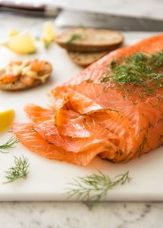 Homemade Cured Salmon Gravlax is arguably the easiest luxury food to make at home at a fraction of the cost of store bought! - Best Of The Best Luxury Fish Recipes, Seafood Recipes, Cooking Recipes, Slow Cooking, Butter Salmon, Salmon Lox, Recipetin Eats, Luxury Food, Ceviche