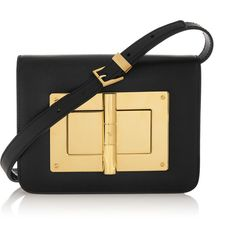 TOM FORD Natalia small leather shoulder bag ($4,345) ❤ liked on Polyvore featuring bags, handbags, shoulder bags, bolsas, purses, tom ford, black, leather shoulder handbags, leather purses and leather shoulder bag