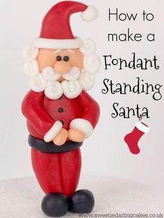 Standing Fondant Santa Tutorial