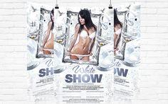 White Show – Premium Flyer Template   Facebook Cover