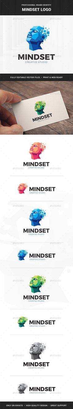 Mindset Logo Template by LiveAtTheBBQ The Mindset Logo TemplateA professional logo featuring a human head in polygon style for many kinds of business. All elements are