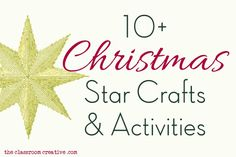 Christmas Stars Crafts & Activities - I really liked the twig star and the clothespin star