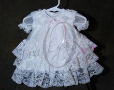 Bianco abito con Slip di cotone bianco su di CherryHillCrochet