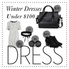"""Winter Dresses Under $100"" by tessiehalldin ❤ liked on Polyvore featuring Oasis, West Coast Jewelry and Boohoo"