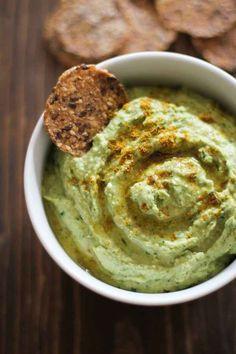 Roasted Garlic and Kale Hummus