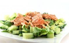 Zalm met avocadosalade