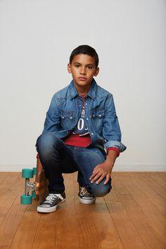 @levisbrand kidswear winter 2014 denim look for boys. #denim #leviskids #fallwinter2014 #FW14 #children #kids #childrenwear #kidswear #kidsfashiontrends #girls #boys