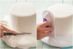 LOS BÁSICOS: Cómo cubrir una tarta redonda con fondant