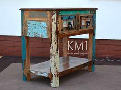 """szafka """"Wewood Loft Colors"""" meble indyjskie Meble z kolekcji """"Wewood Loft Colors"""" spodobają się zwolennikom stylu eko. Meble z tej kolekcji wykonane zostały z drewna z recyklingu , do wykonania tych mebli nie wycięto ani jednego drzewa. Meble zachwycają odważną paletą barw i interesującą strukturą drewna."""