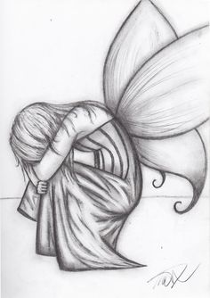 drawings of people kissing in the rain | ... art drawings fantasy 2011 2015 twilson390 a drawing of a crying fairy