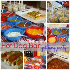 Dinner #3: Hot Dog Bar Grilling Party. Prepare all fixings ahead in deli containers, grill hot dogs and dig in!